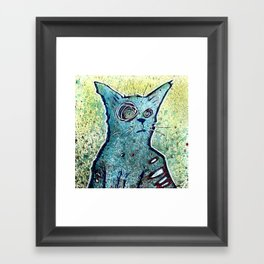 Kuro the Zombie Cat Framed Art Print