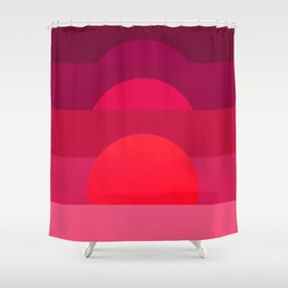 Abstraction_Sunset_001 Shower Curtain