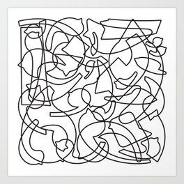 Jolly Clips (White) Art Print