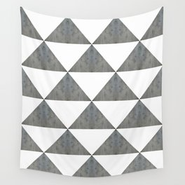 Cement White Triangles Wall Tapestry