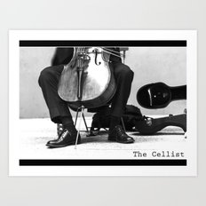 The Cellist Art Print