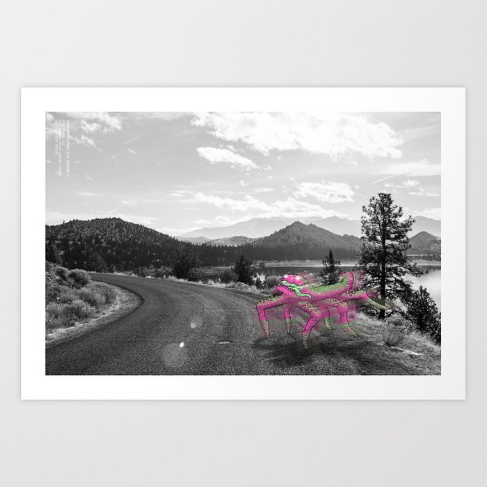 Unseen Monsters of Mount Shasta - Telitoptoo Lou Art Print