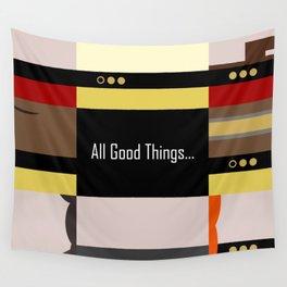 TNG - All Good Things - Minimalist Star Trek TNG The Next Generation 1701 D  startrek  Trektangles Wall Tapestry