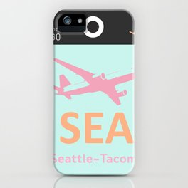 SEA Seattle airport tag iPhone Case