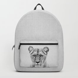 Lioness - Black & White Backpack