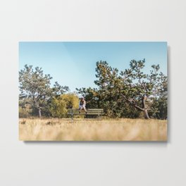 She daydreamed of surreal worlds and they vanished into matter. Metal Print