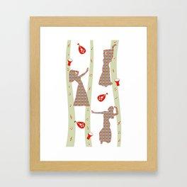Oriental dancers Framed Art Print