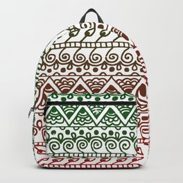 Holiday Henna Pattern Backpack