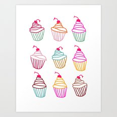 It's time for a cupcake.  Art Print