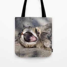 CAT - YAWNING - PHOTOGRAPHY - ANIMALS - CATS Tote Bag