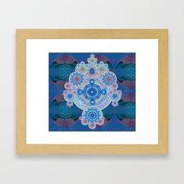 Boujee Boho Violet Glow Medallion Framed Art Print
