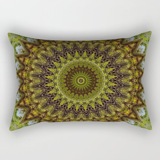 Kaleidoscope No. 6 - Green Rectangular Pillow