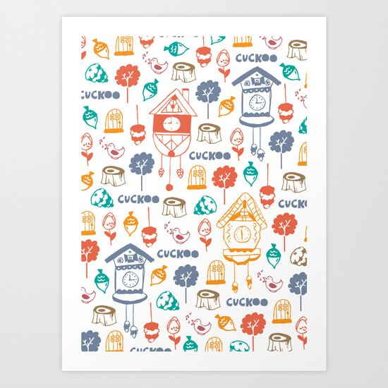 Cuckoo Pattern Art Print