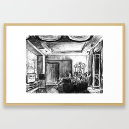 The Rugby Fans Framed Art Print