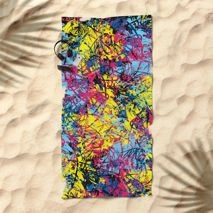 Abstract 6 Beach Towel