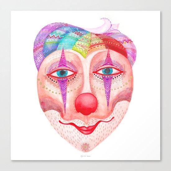 mask - trust the clown Canvas Print