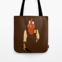 hotline miami Tote Bags featuring Hotline Miami: Jacket by Hazakael