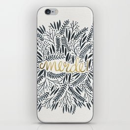 Pardon My French – Black & Gold iPhone Skin