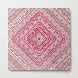 Ethnic ornament, tribal, square meters, geometric pattern Metal Print