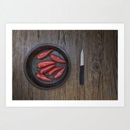 Love Peppers Art Print