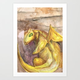 dragon cavern Art Print