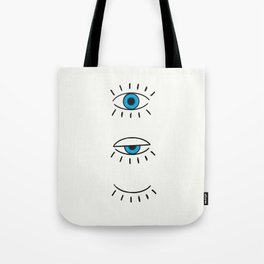 Summer Evil Eyes Tote Bag