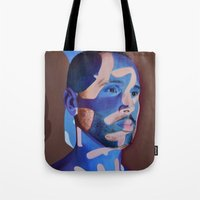 lost in translation Tote Bags featuring Lost in Translation by Emily Lovejoy