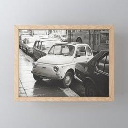 Naughty car, white Framed Mini Art Print