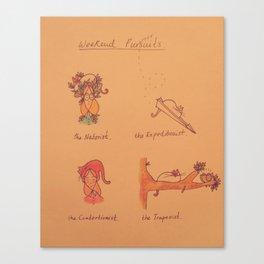 Weekend Purrrrsuits Canvas Print