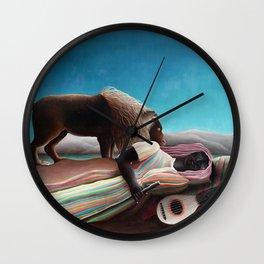 Henri Rousseau The Sleeping Gypsy Wall Clock