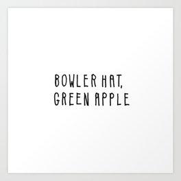 Bowler Hat, Green Apple Art Print