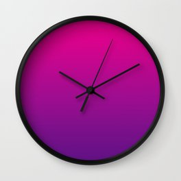 Neon Pink Purple Ultra Violet Pattern Wall Clock