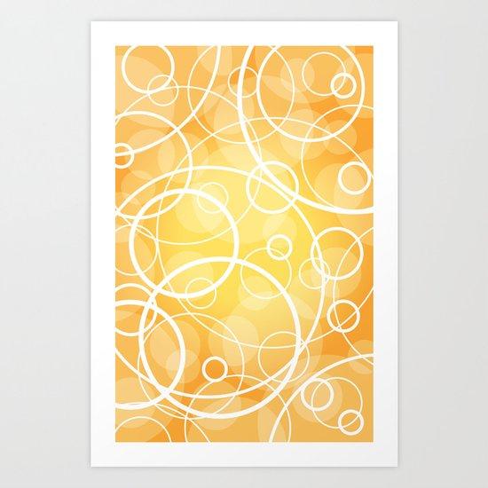 Hard Line Bokeh Art Print