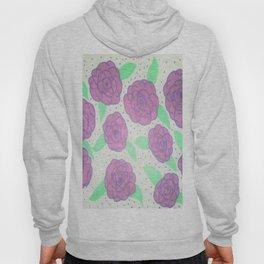 Purple Rose Pattern Hoody
