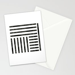 Black Geometric Stationery Cards