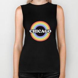 Chicago Rainbow Gay Pride Parade LGBT Apparel Gift Biker Tank