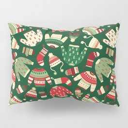 Ugly Christmas Fashion red green white Pillow Sham