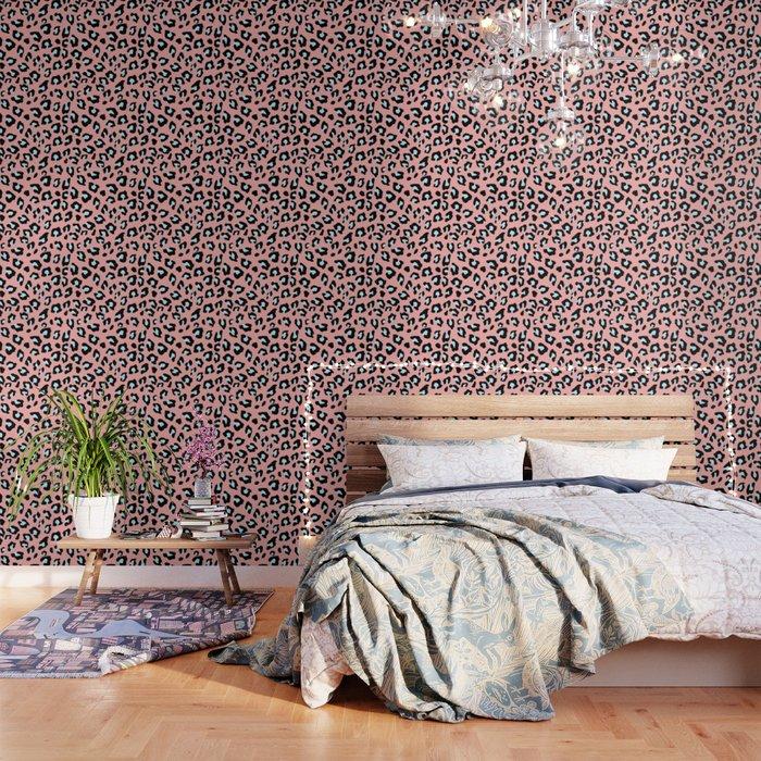 Leopard Print - Icy Peach Wallpaper