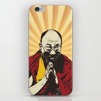 lama iPhone & iPod Skins featuring Dalai Lama by ArDem