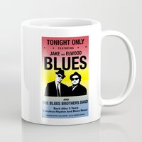 blues brothers Mugs featuring Blues Brothers Play On by McGrathDesigns