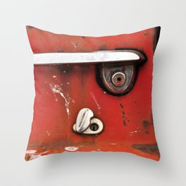 Angry Door Throw Pillow