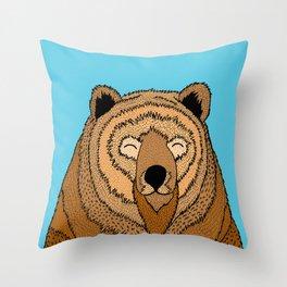 The Happy Bear Throw Pillow