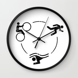 Triathlon Logo Wall Clock