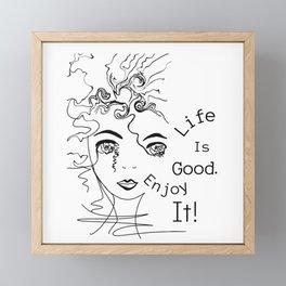 Whimsical Bohemian free-spirit girl inspirational art Framed Mini Art Print