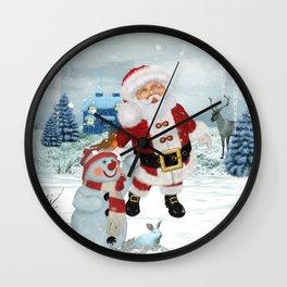 Funny Santa Claus Wall Clock