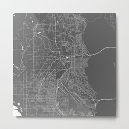 Ogden USA Modern Map Art Print Metal Print