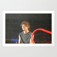 louis tomlinson Art Prints featuring Louis Tomlinson by Halle