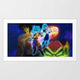 goku and vegeta super saiyan blue Art Print