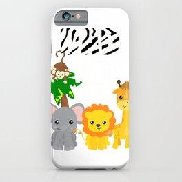 Dad of the Wild One Zoo Theme Birthday Safari Jungle Animal T-Shirt iPhone Case