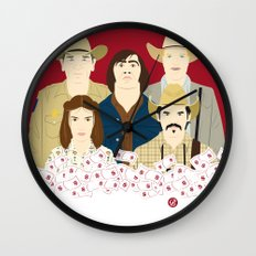 The Country Of Living Dangerously (Faces & Movies) Wall Clock